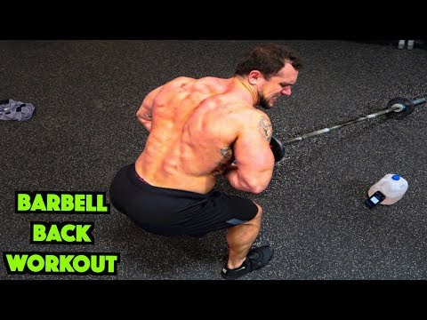 Intense 5 Minute Barbell Back Workout