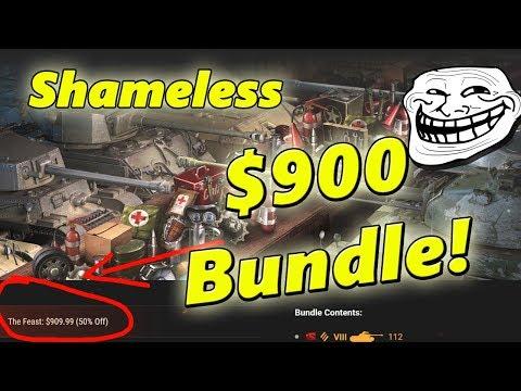 Wargaming's Ridiculous $900 World of Tanks Bundle!