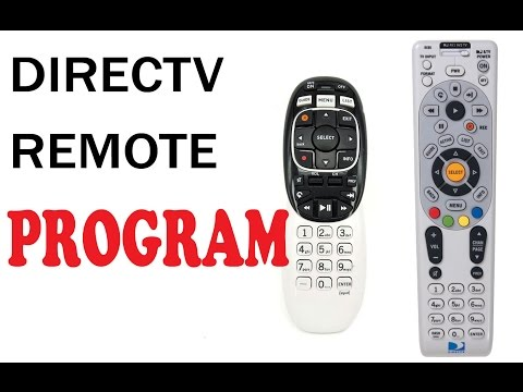 How to program Directv remote RC73&65