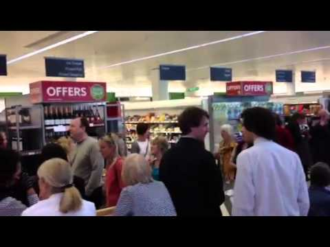 Tonbridge arts festival flash choir waitrose