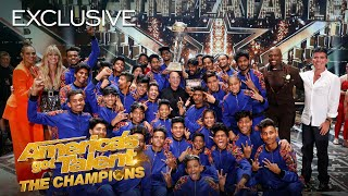 Heidi Klum talks to V.Unbeatable about their EPIC WIN! - America's Got Talent: The Champions