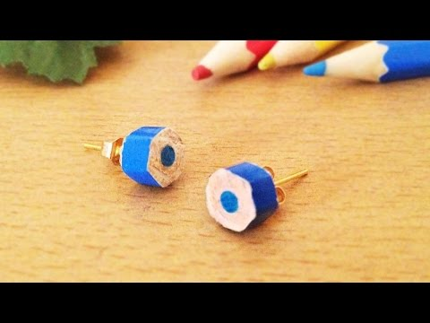 How To Make Cute Color Pencil Earrings - DIY Style Tutorial - Guidecentral