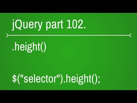 jquery height function - part 102