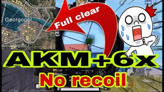 How to clear georgopol with AKM+6x spray | Full Intense match | Iphone6s+ | 4 finger+gyro |