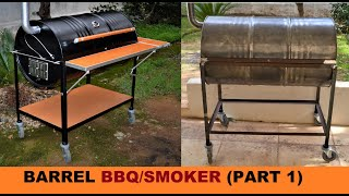 HOW TO BUILD A BARREL BBQ/SMOKER (PART 1)