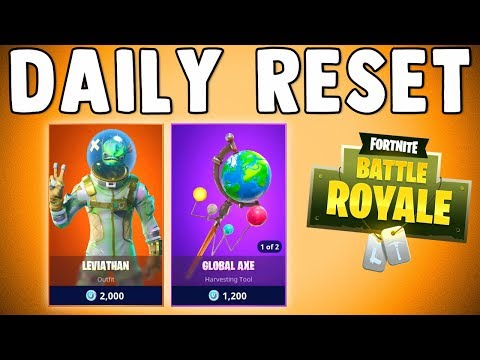 LEVIATHAN SKIN & GLOBAL AXE ARE BACK!! Fortnite Daily Reset & New Items in Item Shop