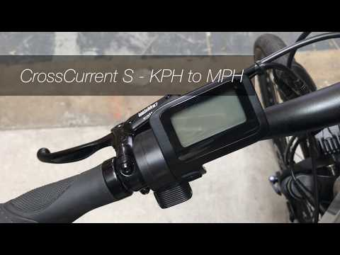 CrossCurrent S - How to change KPH to MPH metrics