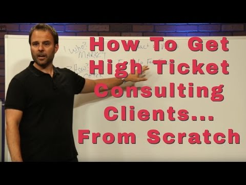 How to get high ticket consulting clients even if nobody knows who you are | Brad Costanzo