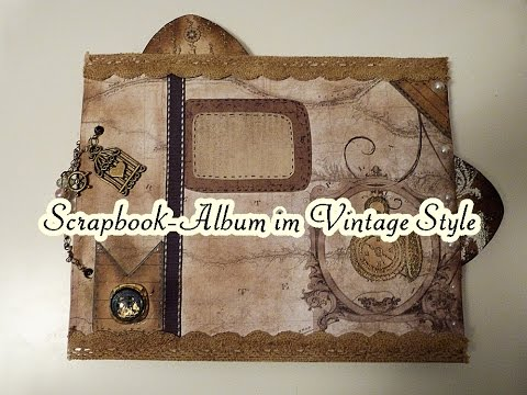 Scrapbook Album im Vintage Style / DCWV-Collection Timeless Type Stack