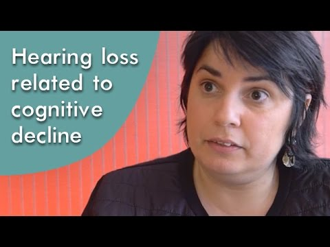 Hearing loss related to cognitive decline over the years