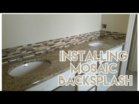 HOW TO PREP BACKSPLASH TILE WALL FOR MOSAIC TILE