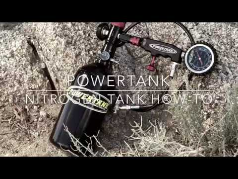 How to inflate shocks with Power Tank Nitrogen Shock Fill Kit