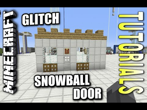 Minecraft PS4 - SECRET SNOWBALL DOOR - GLITCH - How To - Tutorial ( PS3 / XBOX )