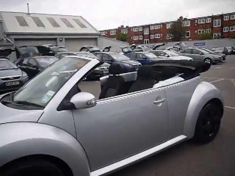 2010 Volkswagen Beetle Luna 1.4i Cabriolet Silver For Sale In Hampshire
