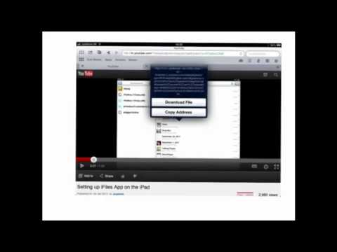 Saving YouTube video for offline viewing using iCab Mobile