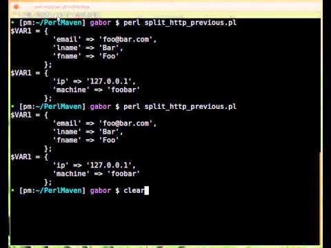 Beginner Perl Maven tutorial: 10.17 - Solution: split path - filename/dirname