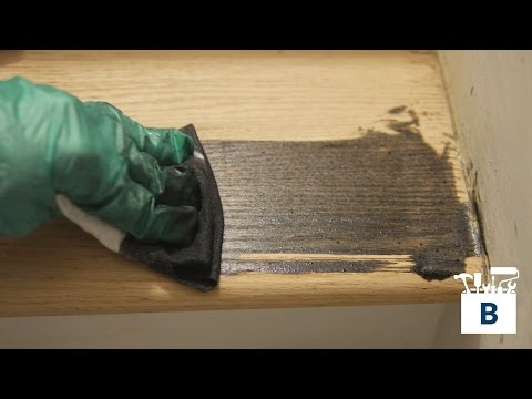 How to Refinish Wood Stairs - Staining