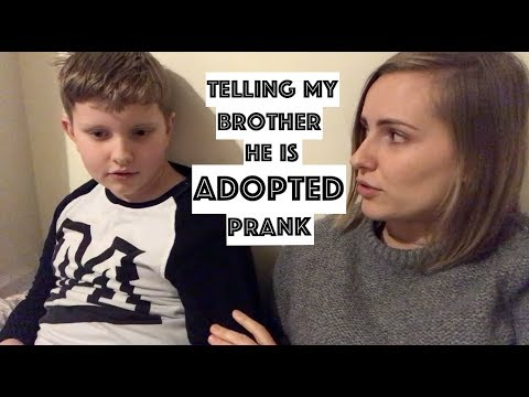 Telling my little brother he is ADOPTED prank