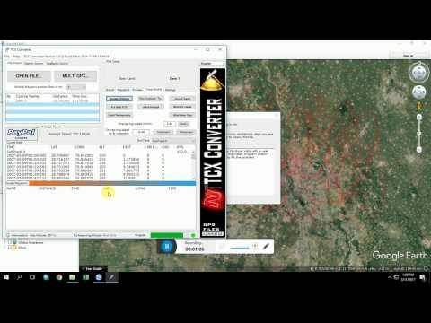 DEM Generation using Google Earth and TCX Converter
