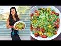 High Protein Veggie Salad! FullyRaw Vegan Recipe!