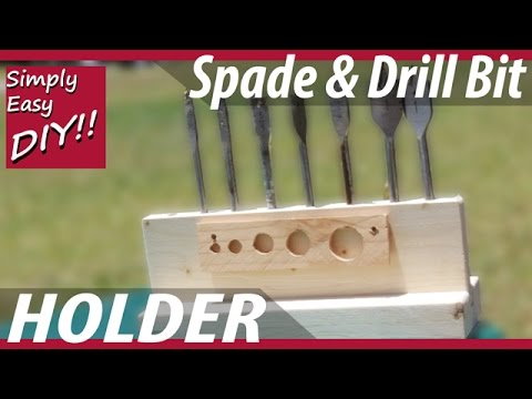DIY Drill Bit or Spade Bit Rack Holder