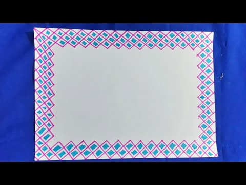 Simple border design to draw on paper| simple border designs for  project|easy assignment front page