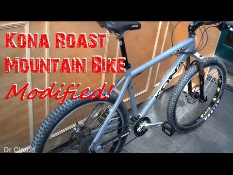 Modified/Upgraded Kona Roast Mountain Bike!
