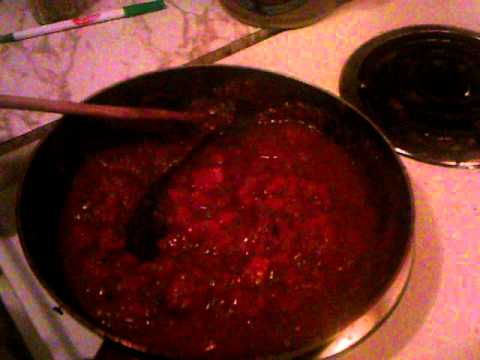 2  COOKING THE DICED TOMATOES FOR THE KINGUMBO