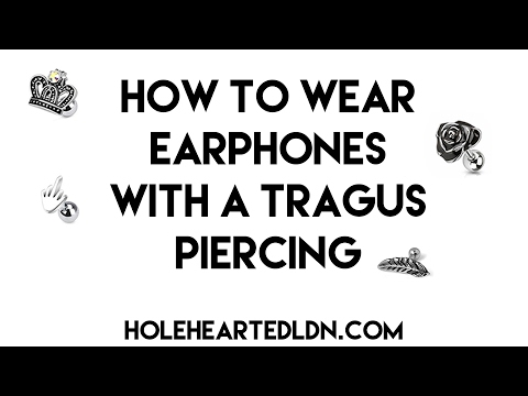 How To Wear Earphones With A Tragus Piercing | Piercing Tutorial