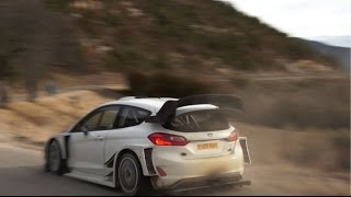 Test Rallye Monte Carlo 2017 - Sebastien Ogier (Ford Fiesta WRC) Laborel (HD)