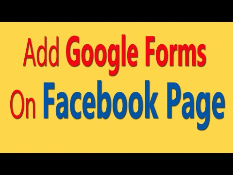 How To Add Google Forms On Facebook Page