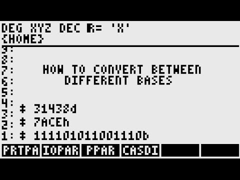 How to Convert Between Binary/Hex/Decimal Bases with the HP-50g