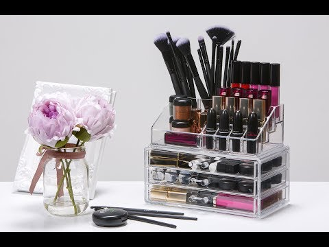 Organised Beauty 2 Piece Makeup Organiser & 24 Slot Lipstick Holder