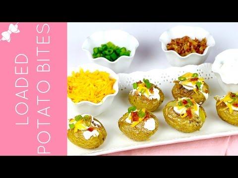 Fully Loaded Mini Baked Potato Bites // Lindsay Ann Bakes