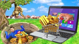 ऑनलाइन किराना सबजी वाला Online Grocery Sabji Wala Comedy Video हिंदी कहानिया Hindi Kahaniya Comedy