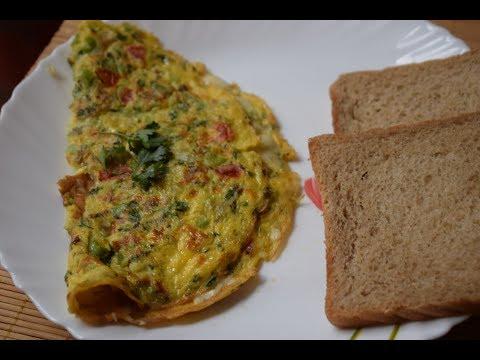 Cheese Masala Omelette - Irani Omelette - Masala Omelette - Cheese Omelet Recipe - Vegetable Omelet