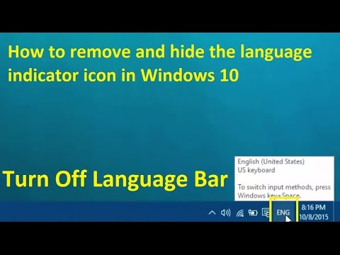 Remove and hide the language indicator icon in windows 10 - Howtosolveit