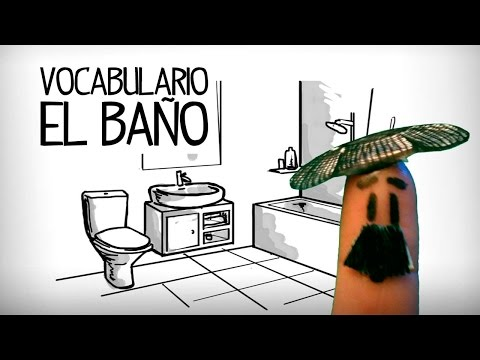 Bathroom vocabulary in Spanish, parts of house