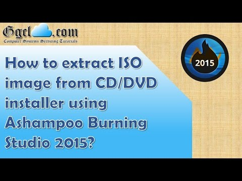 How to extract ISO image from CD or DVD installer using Ashampoo Burning Studio 2015?