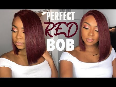 THE PERFECT RED BOB (Prep, Cutting, Coloring) | Premium Lace Wig