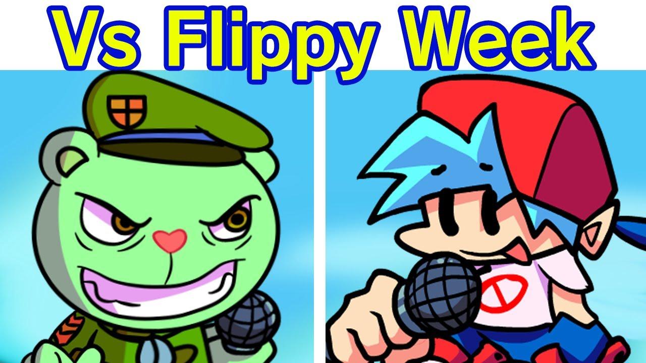 Friday Night Funkin' - VS Flippy FULL WEEK + Cutscenes (FNF Mod/Hard) (Happy Tree Friends)