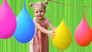 ALISA Plays with Balloons! Learn Colours for Kids
