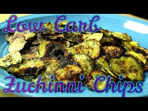 Zucchini Chips ( Quick Low Carb Recipes ) Atkins, Keto, Paleo