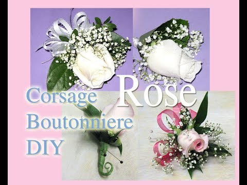 How to make easy Rose Boutonniere Corsage