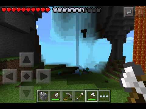 MCPE#6-Lava Bucket & Treehouse