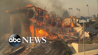 Wildfires burn over 70K acres across Southern California