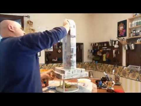 How to make a paper mache tombstone part 1 youtube