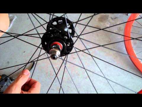 Fixed gear fixie rear sprocket install how-to