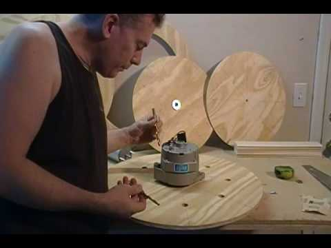 Building a Wind Turbine (22 of 46) Locate and Drill Mounting holes for PMA