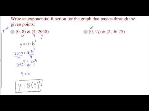 Lesson 8.2 - Finding the Exponential Function from Two Points